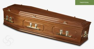 Bowden Solid Maghogany coffin