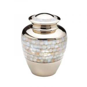 Gold Mother of Pearl Urn