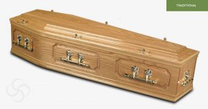 The Blythe Solid Oak Coffin