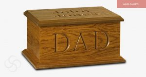 Carved Personalised Ashes Casket
