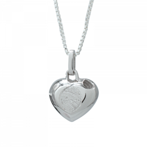 Silver Cremation-Heart
